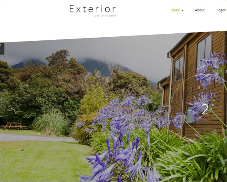Exterior House Studio Joomla Themes Templates