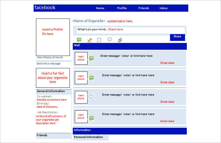 23 best facebook templates free psd download for Facebook templates for projects
