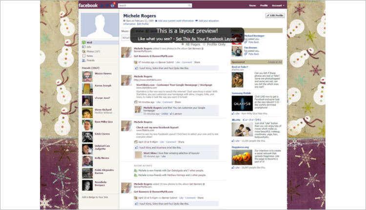 Facebook Snowmen Business Templates