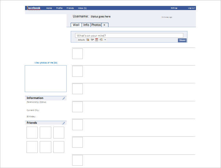 Facebook Templates Word Fornmat