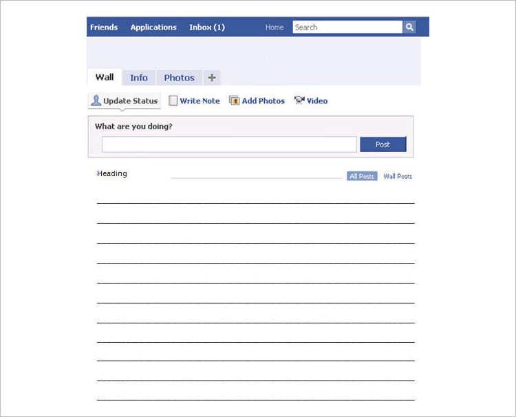 Facebook Word Excel templates