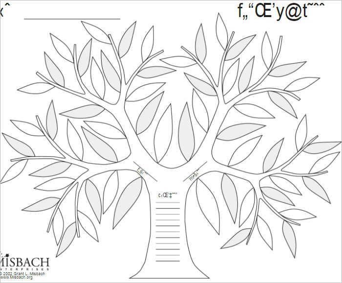 Family Tree Art Template