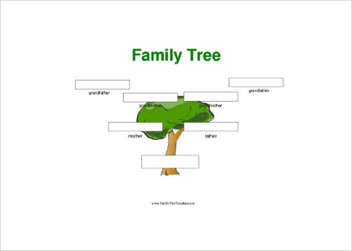 Family Tree Large Boxes Templates
