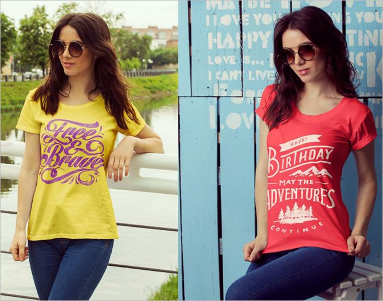 Feale T-Shirt Mockup Design