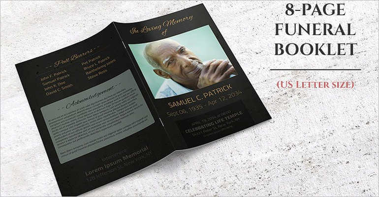 8 Funeral Booklet Templates Free Word PDF Docs Download