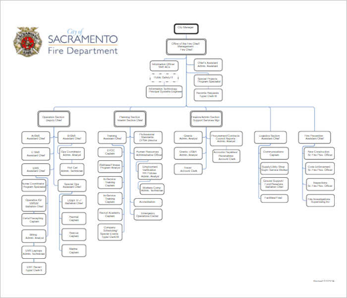 Organization Chart For Kitchen Department: Fire-department-organizational-chart-templates