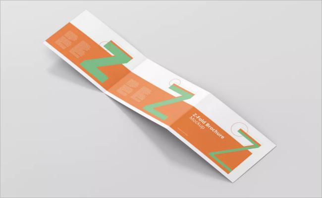 Flat A5 Brochure Mockup Design