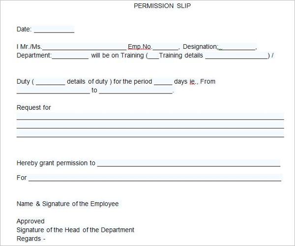 Flied Trip Permission Letter Template