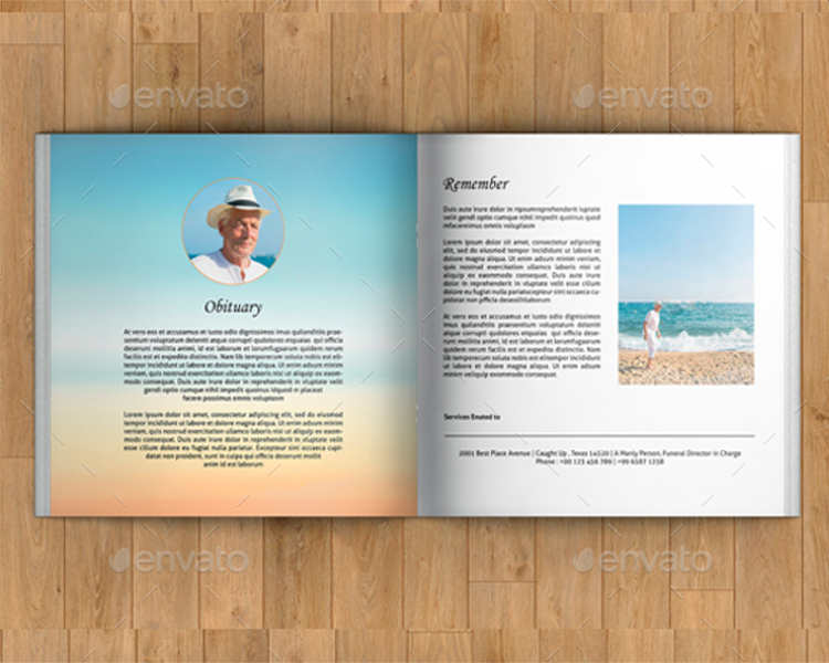 Funeral Booklet Templates || Free & Premium Templates | Creative ...