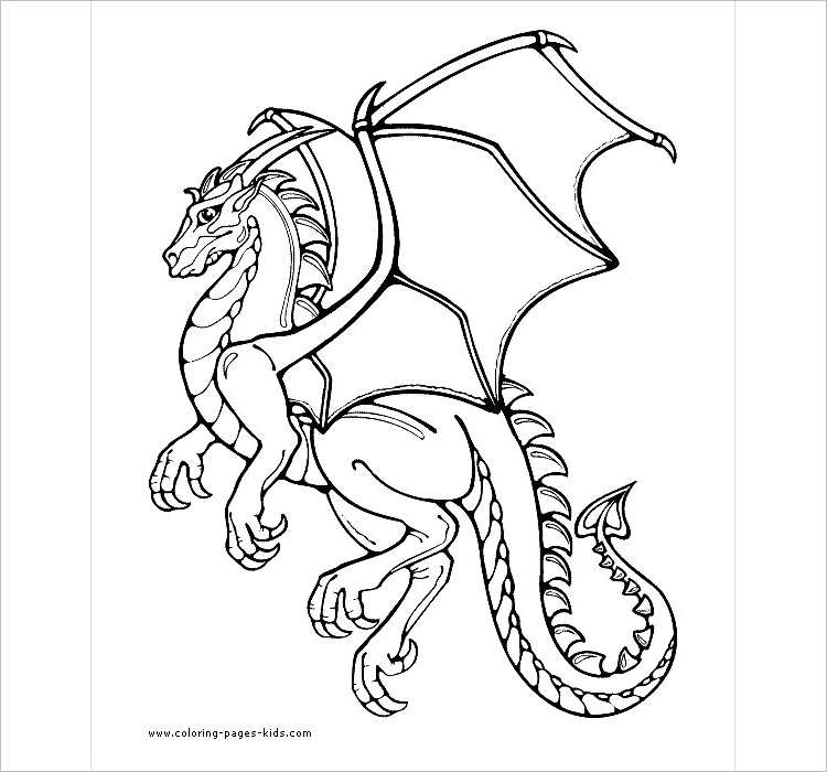 Flying Dragon Drawing Design