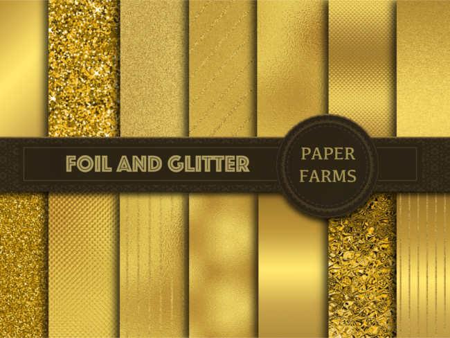 Foil & Glitter Gold Texture Design