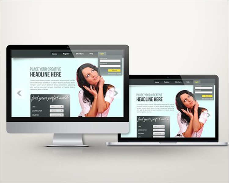 dating site landing page template