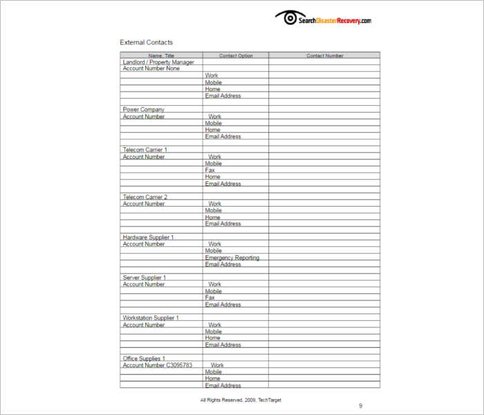 free-disaster-recovery-plan-templates