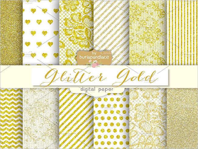 Free Glitter gold pattern