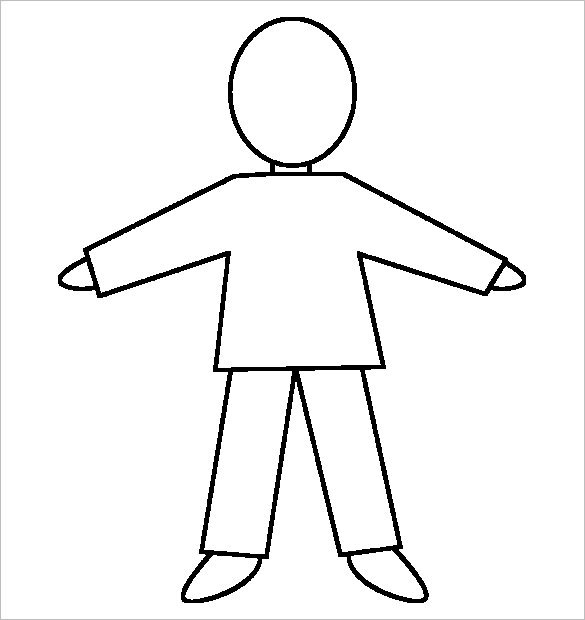 Free Human Body Outline Templates
