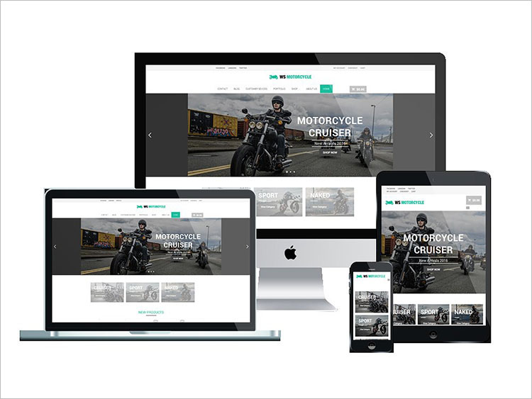 Free Motorcycle WordPress Theme