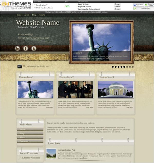 Free Patriotic WordPress Themes & Templates