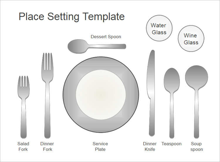 20 Place Setting Templates Free Premium Templates – Place Setting Template