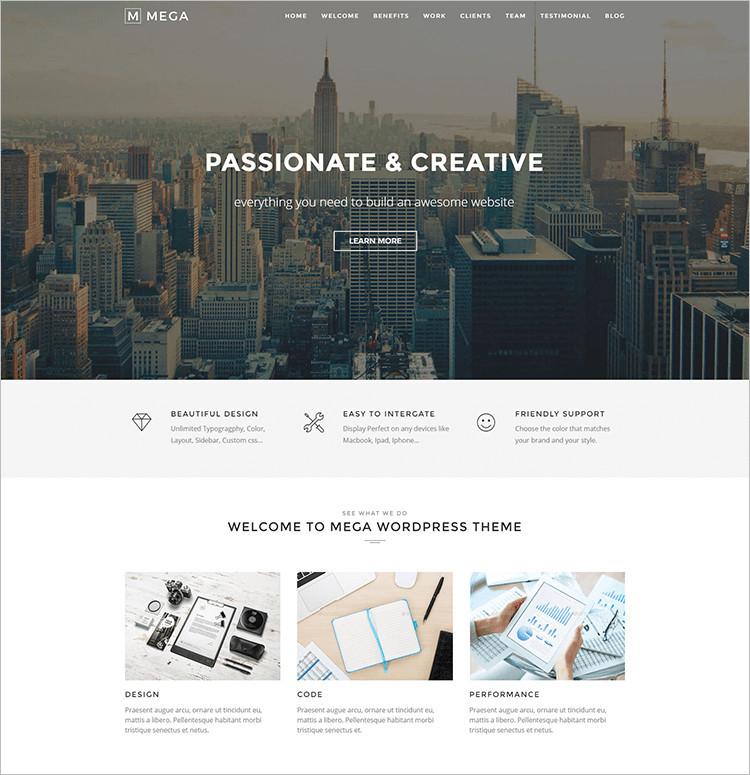 Free & Premium One Page WordPress Themes
