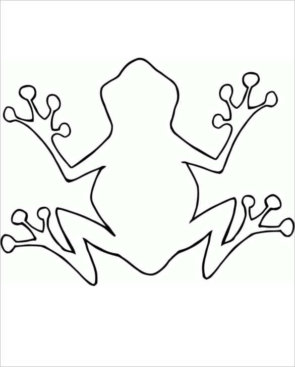 Frog Body Outline Templates