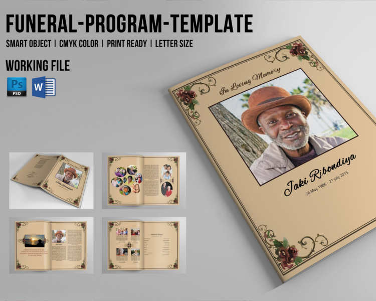 free funeral program booklet template