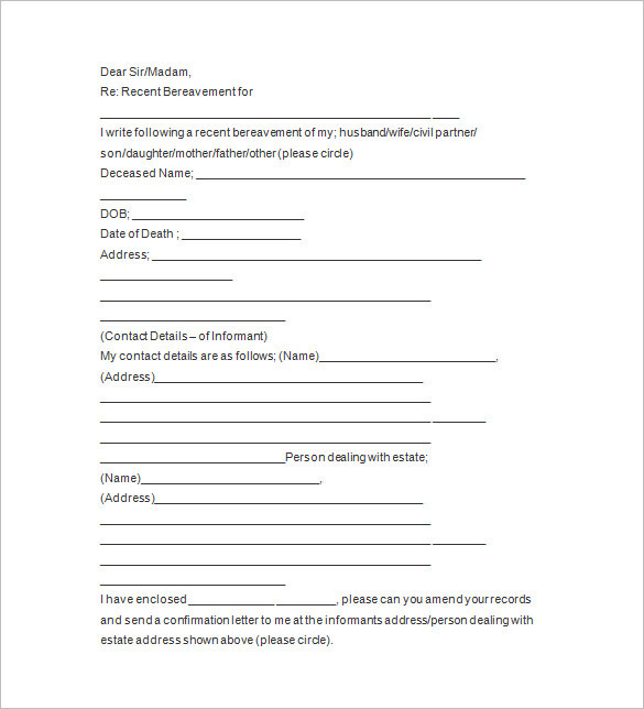 funeral-notice-letter-templates
