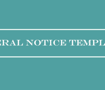 Funeral Notice Templates