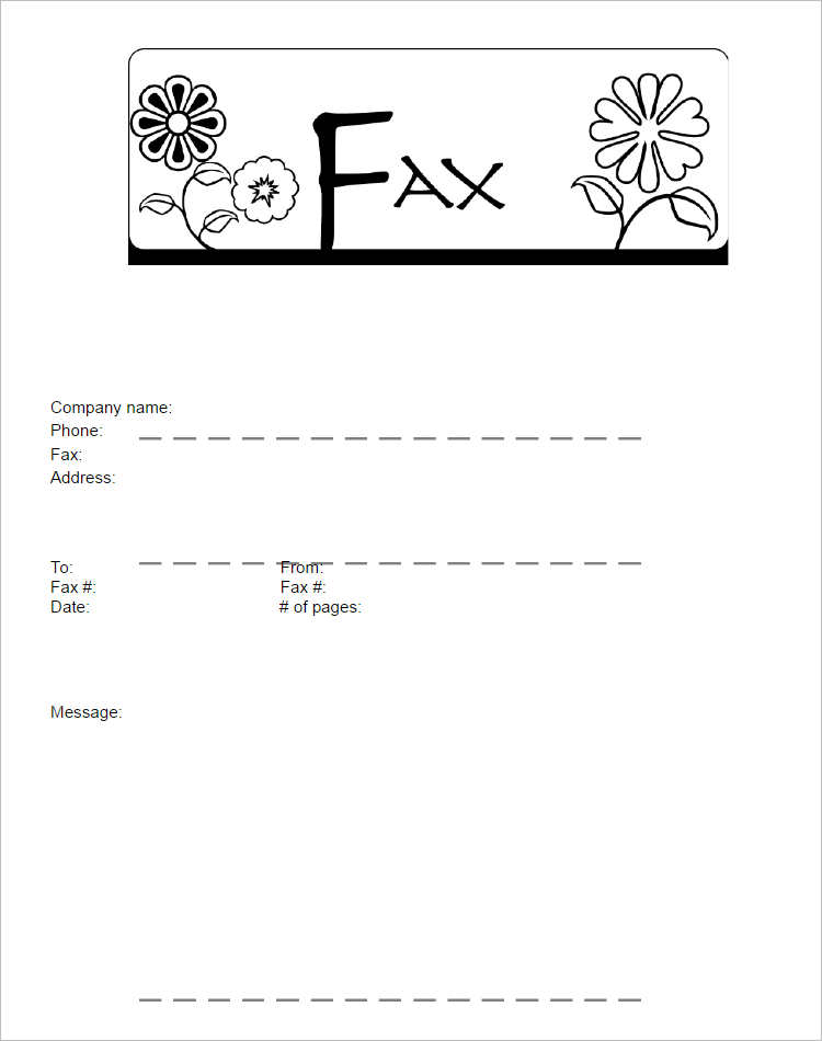 Funny Fax Cover Sheets Document