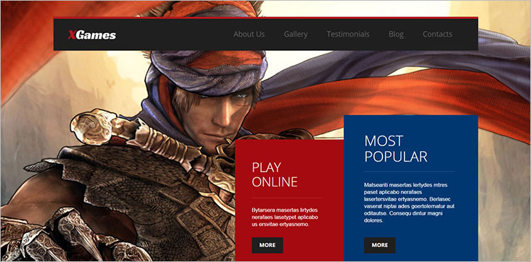 Game Designing Theme Templates