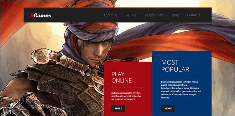 Game Designing Theme Templates