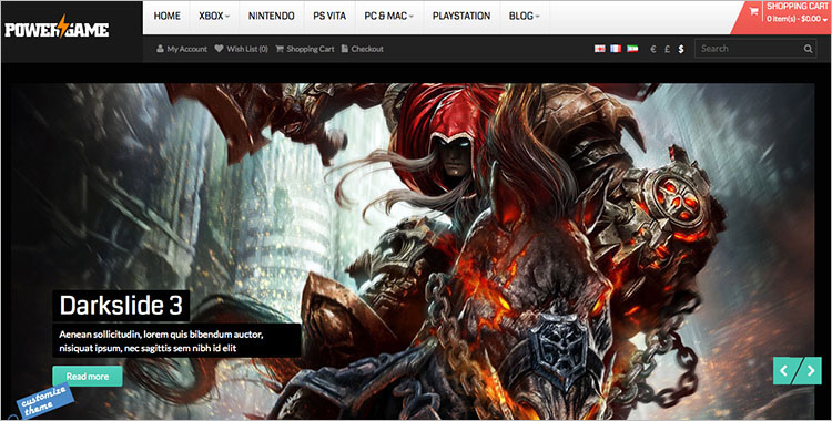 Gaming App Themes & Templates