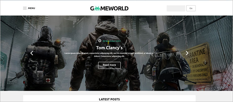 Gaming World Theme Templates