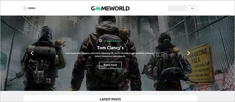 Gaming World Theme Templates
