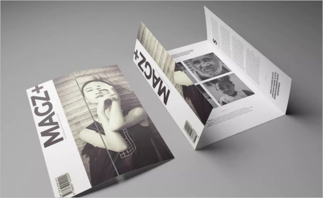 Gate Fold A5 Brochure Mockup