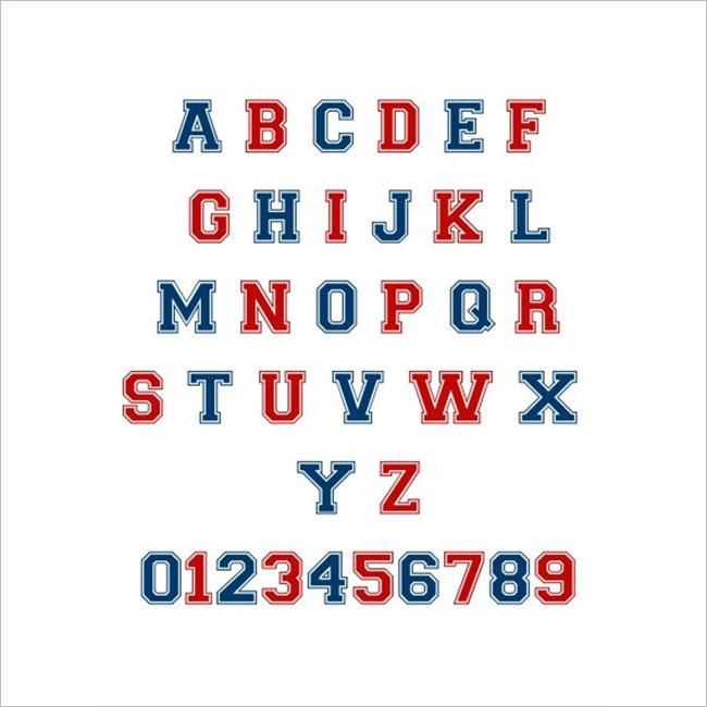 General Varsity font Design