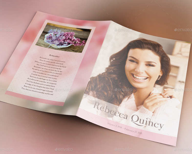 glamour-funeral-program-template