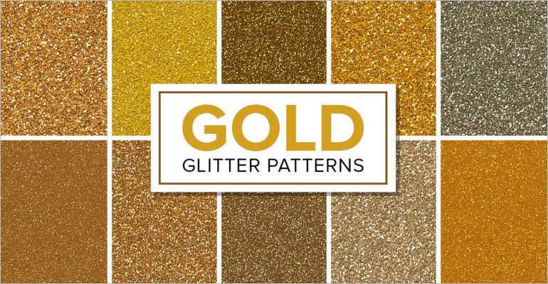 Glitter Gold patterns