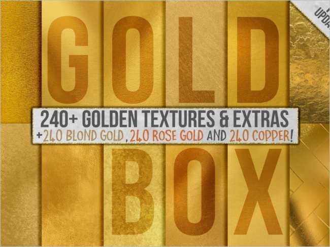 Gold Digital Paper Texture