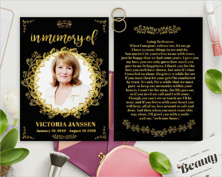 gold-foil-funeral-card-templates
