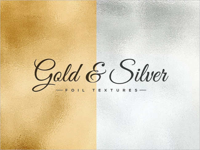 Gold & Silver Textute Design