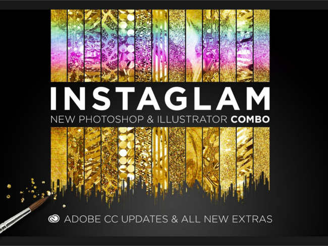 Gold Styles Bundle Texture Designs