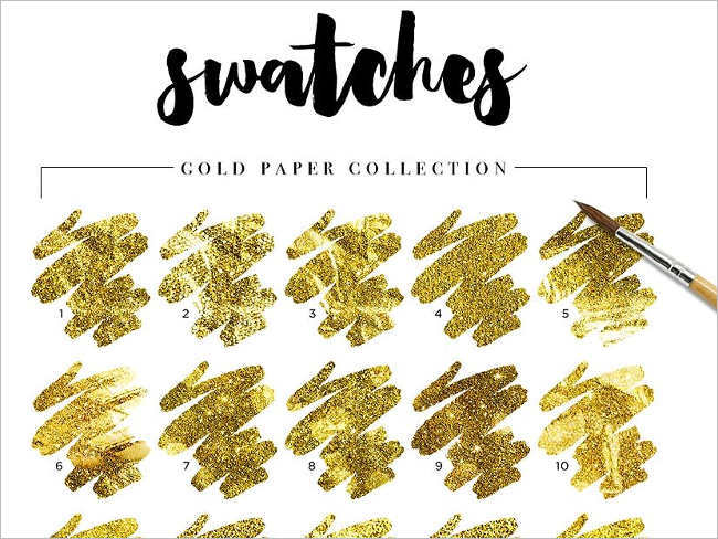 Gold Swatches Textures Designs