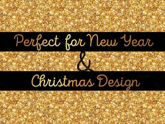 Graphic Glitter Gold Pattern