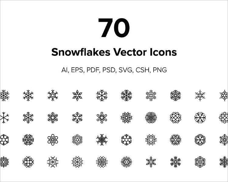 graphic-snowflake-vector-design