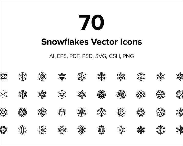 graphic-snowflake-vector-design