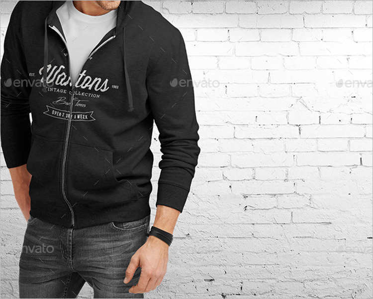 Hoodie Outfit PSD Mockup