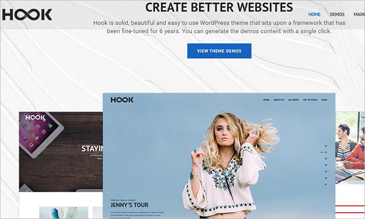 Hook Superior WordPress Theme Templates