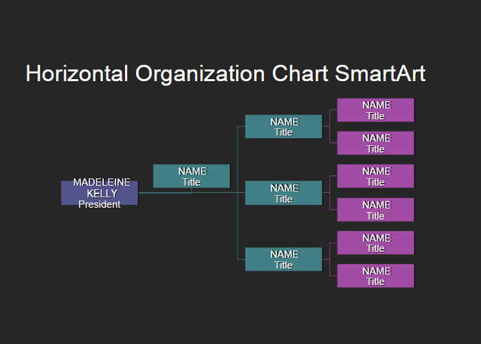 horizontal-organization-chart-templates