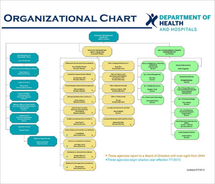 hospital-organization-chart-templates