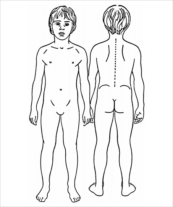 Human Body Outline Sketch Templates
